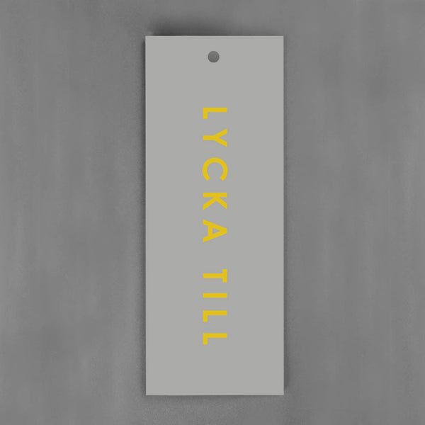 HANG-TAGS Collection - Lycka till grå & guld [30-pack]