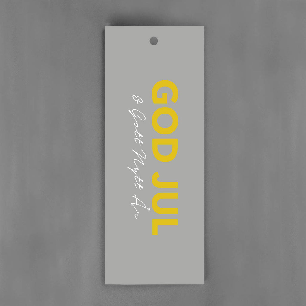 HANG-TAGS Collection - God Jul grå & guld [30-pack]