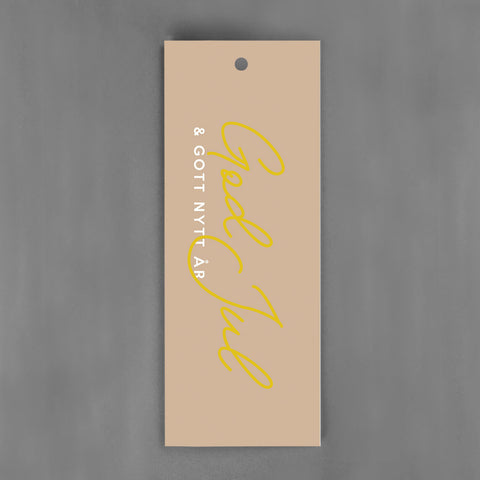 HANG-TAGS Collection - God Jul guld [30-pack]