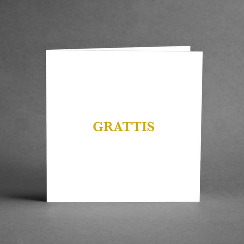 GRANDE Collection - Grattis vit/guld [20-pack]