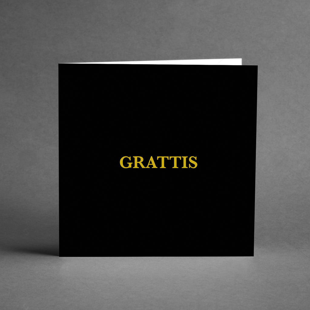 GRANDE Collection - Grattis svart/guld [20-pack]