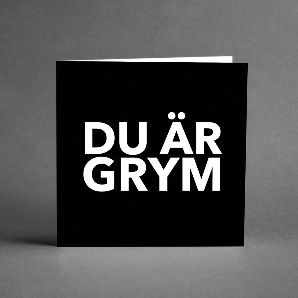 GRANDE Collection - Du är grym svart [20-pack]