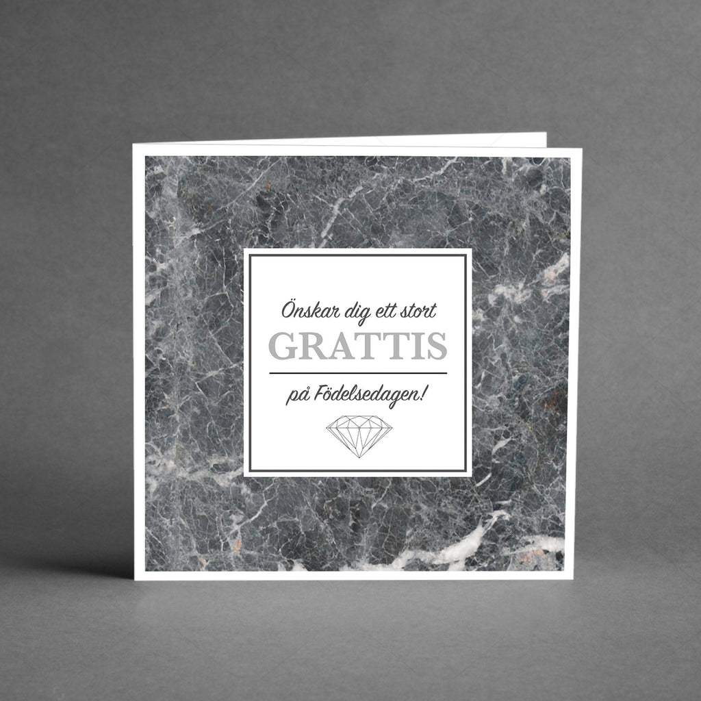 GRANDE Collection - Grattis silver och marmor [20-pack]