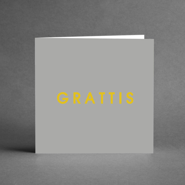 GRANDE Collection - Grattis grå & guld [20-pack]