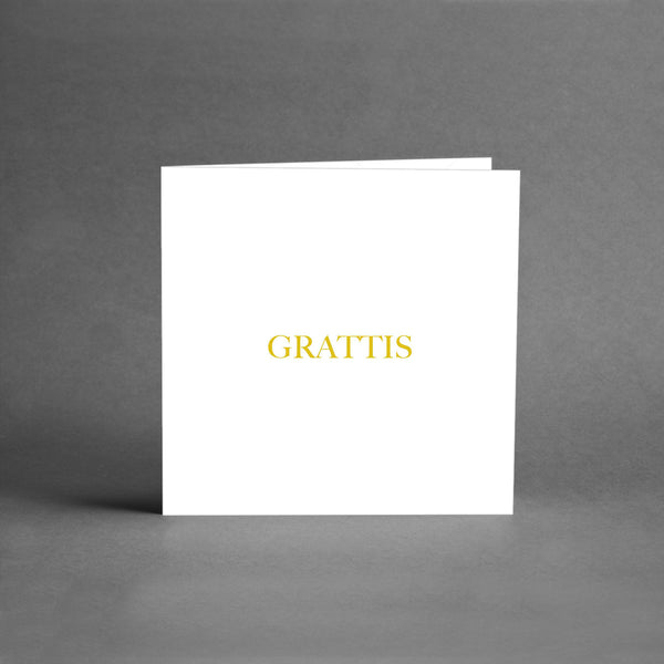 MINI Collection - Grattis vit/guld [25-pack]