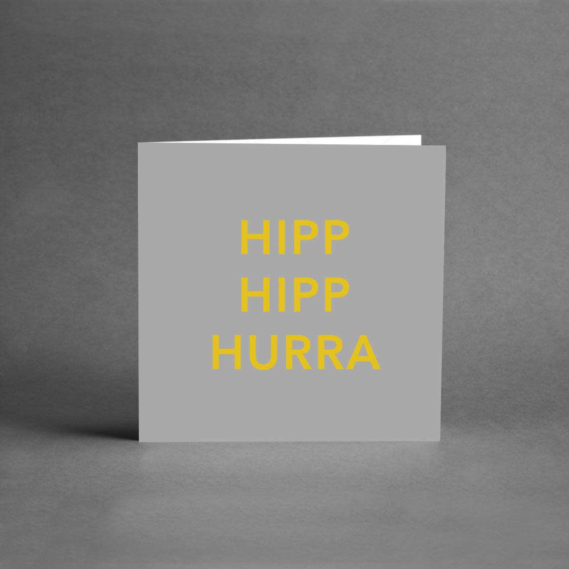 MINI Collection - Hipp Hipp Hurra grå & guld [25-pack]