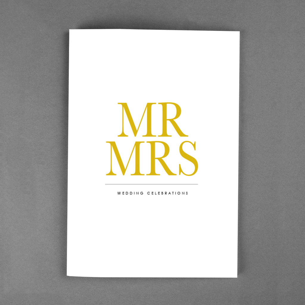 PREMIUM Collection - Mr & Mrs bröllopskort [20-pack]