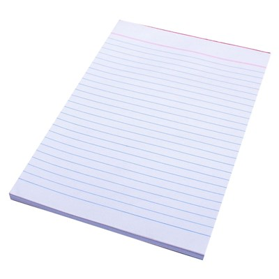 Office Pads Quill A5 Bank Ruled White 90lf 50gsm 01820 Pack of 20