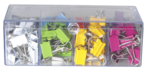 Celco Assorted Colour Foldback Clips Pack of 96 19mm