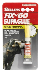 GLUE SELLEYS SUPA GLUE FIX N GO 3ML