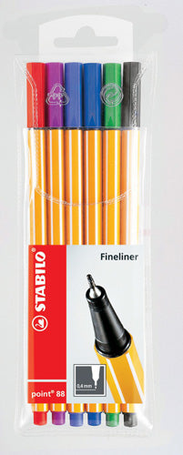 PEN STABILO FIBRE TIP POINT 88 0.4 See Variants for pack sizes