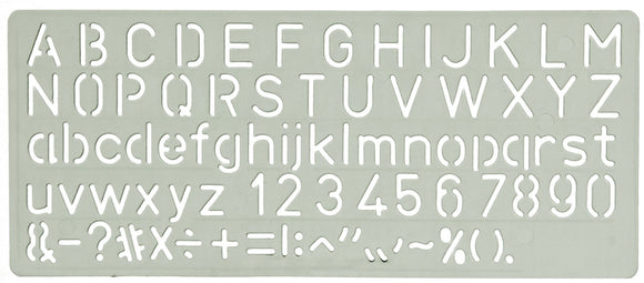 STENCIL CELCO C10 LETTERING 10MM