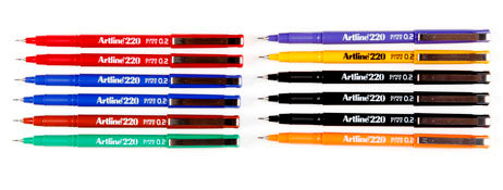 PEN ARTLINE 220  0.2MM Box of 12 See Variants for Colours