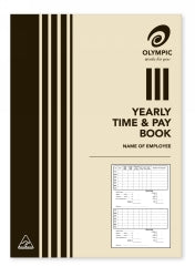 TIME AND WAGES BOOK OLYMPIC 210X148 YEARLY 32P