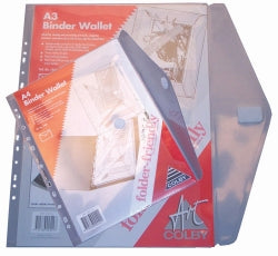 BINDER WALLET COLBY A4 146A FOLDER FRIENDLY CLEAR. EACH