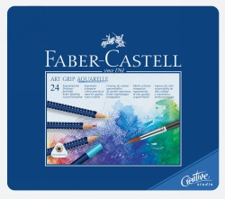 PENCILS COLOURED FABER-CASTELL ART GRIP WATERCOLOUR BX24