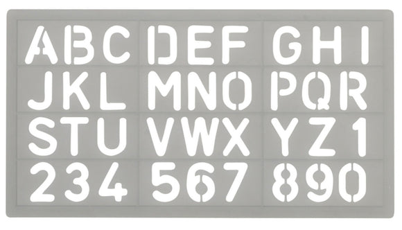 STENCIL CELCO C20 LETTERING 20MM