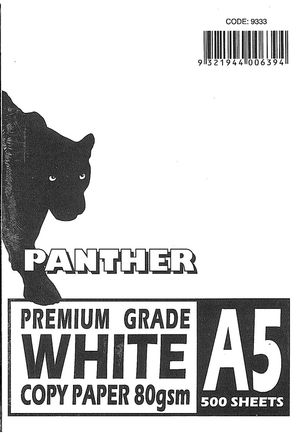 COPY PAPER Panther A5 80GSM WHITE PK500