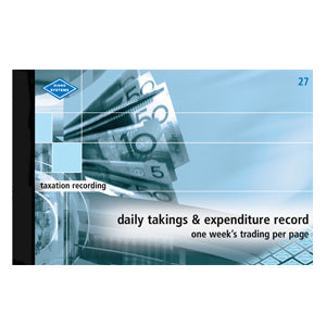 DAILY TAKINGS & EXPENDITURE RECORD ZIONS 27