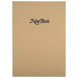Cumberland Kraft Cover Notebook A4 Case Bound 80 Leaf Ruled
