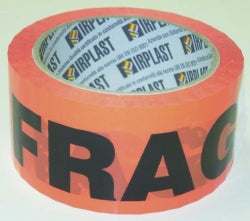 TAPE PACKAGING FLURO ORANGE FRAGILE 48MMX66M ROLL