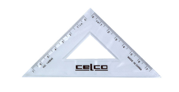 SET SQUARE CELCO 140MM 45 DEGREE CLEAR