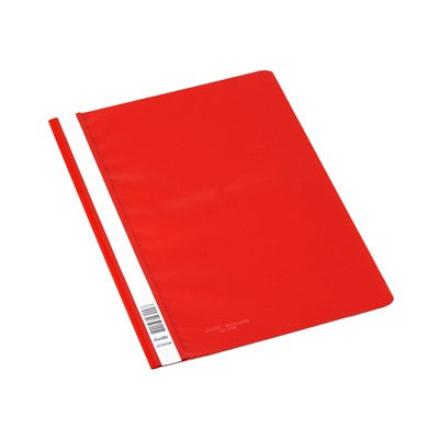 FLAT FILE Marbig A4  CLEAR COVER RED EACH