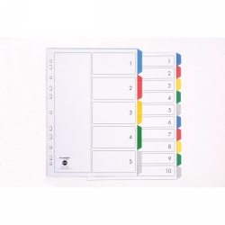 DIVIDERS MARBIG A4 PP 5 TAB MULTI COLOUR