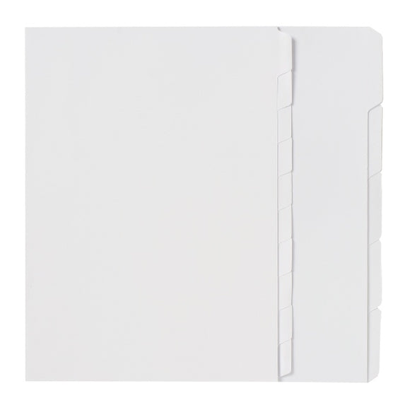 DIVIDERS MARBIG A4 WHITE UNPUNCHED 10 TAB