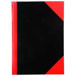 Cumberland Red and Black Notebook A4 200 Leaf