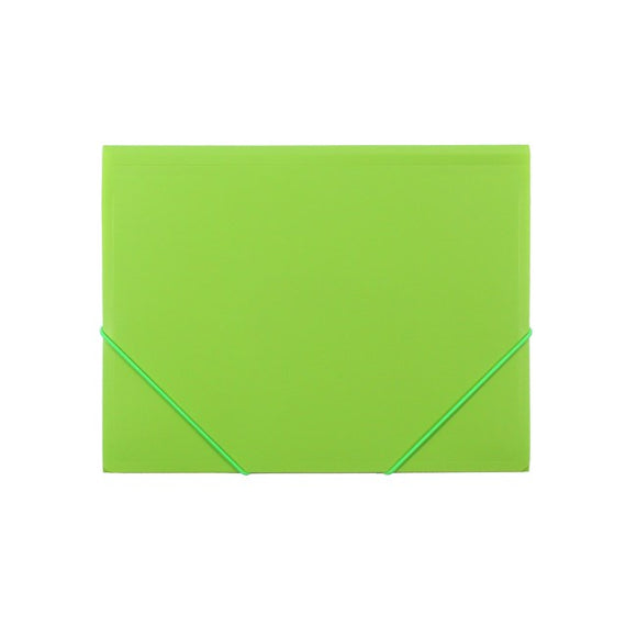 DOCUMENT WALLET B/TONE A4 PP W/ELASTIC CARIBBEAN LIME