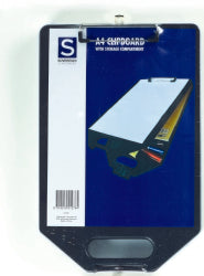CLIP BOARD A4 SOVEREIGN WITH STORAGE.