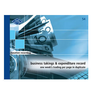 BUSINESS TAKINGS & EXPENDITURE BOOK ZIONS 54