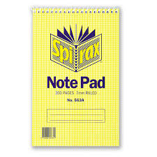 Spirax 563a Shorthand Notebook 200mmx127mm 200 Page 8mm Ruled Pack of 10