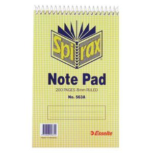 Spirax 563a Shorthand Notebook 200mmx127mm 200 Page 8mm Ruled
