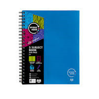 Spirax 5 Subject Notebook 250 Page 8mm Ruled 7 Hole Punched 4 Coloured Card Pocket Dividers