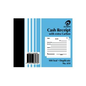 CASH RECEIPT BOOK #614 OLYMPIC DUPLICATE  5X4