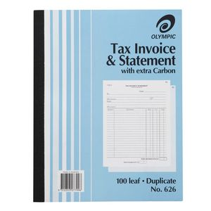 INVOICE / STATEMENT BOOK OLYMPIC 626 DUPLICATE  10X8 100LF