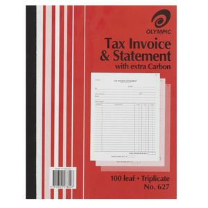 INVOICE / STATEMENT BOOK #627 OLYMPIC TRIPLICATE 10X8