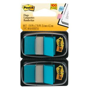 POST- IT FLAGS 680-BB2 TWIN PACK BRIGHT BLUE 100