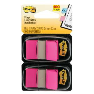 POST- IT FLAGS 680-BP2 TWIN PACK BRIGHT PINK 100