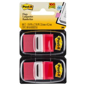 POST- IT FLAGS 680-RD2 TWIN PACK RED 100