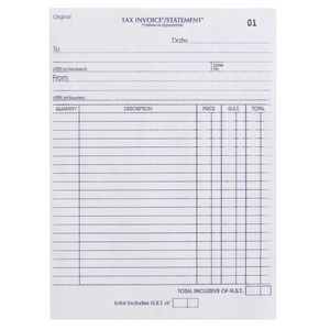 INVOICE / STATEMENT BOOK OLYMPIC 726 DUPLICATE  CARBONLESS 10X8 50LF PACK OF 5