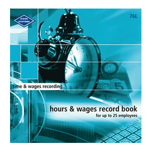 WAGE BOOK ZIONS 76L HOURS & WAGES LGE