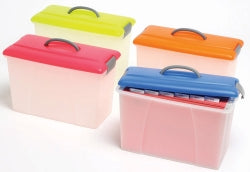 CARRY CASE CRYSTALFILE 18L SOLID LID/CLEAR BASE Select colour from Variants
