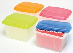 PORTA BOX CRYSTALFILE 32L Solid LID/CLEAR BASE SELECT COLOUR FROM VARIANTS