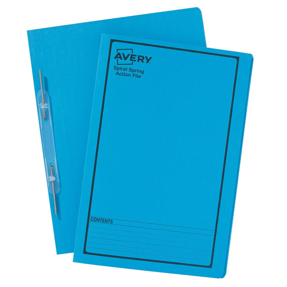 SPIRAL SPRING FILE AVERY F/C BLUE PRINTED BLACK Box of 25