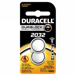 BATTERY DURACELL BUTTON CELL 2032 2PK