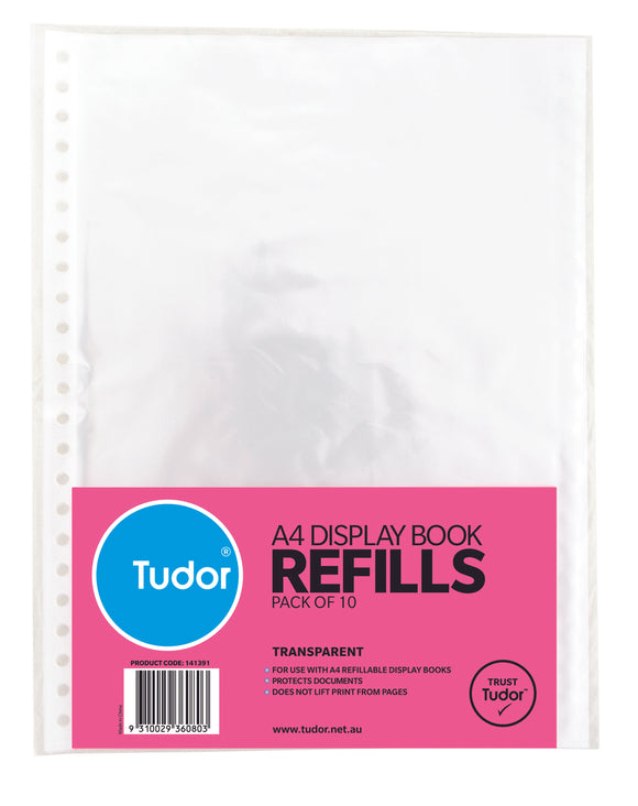 Tudor DISPLAY BOOK REFILL A4 Pack of 10
