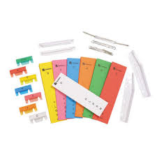INDEX TABS INSERTS CRYSTALFILE PK60 Assorted Select colour from variants.